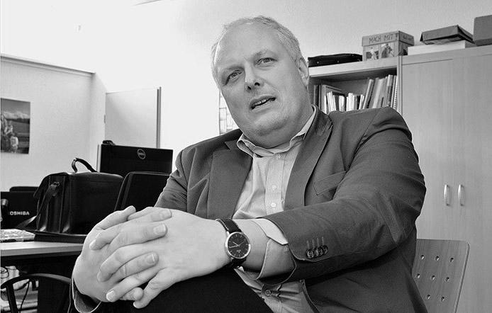 Carsten Seim und Jan Loleit interviewen Ulrich Kelber. Foto. Carsten Seim